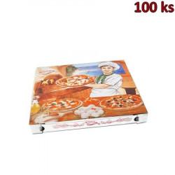 Krabice na pizzu z vlnité lepenky 32,5 x 32,5 x 3 cm