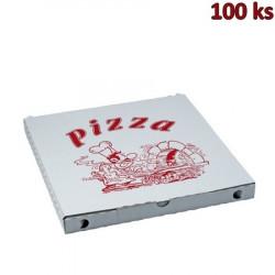 Krabice na pizzu z vlnité lepenky 34 x 34 x 3 cm