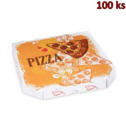 Krabice na pizzu z vlnité lepenky 26 x 26 x 3 cm