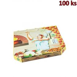 Krabice na pizzu extra pevná 32 x 32 x 3 cm