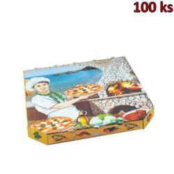 Krabice na pizzu extra pevná 33 x 33 x 3 cm