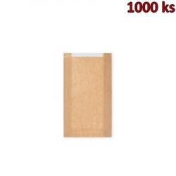 Papírové sáčky na pečivo s okénkem velké (18+6 x 32 cm, ok.13 cm) [1000 ks]
