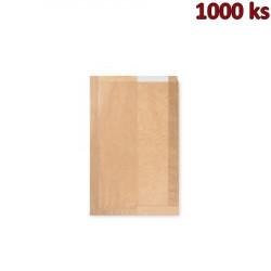Papírové sáčky s okénkem na chléb (22+5 x 34 cm, ok.14 cm) [1000 ks]