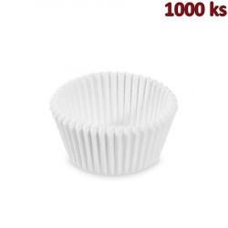 Cukrářské košíčky bílé Ø 45 x 25 mm [1000 ks]