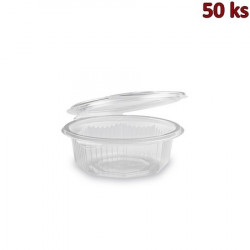 Plastová miska s víčkem osmiboká 375 ml PP [50 ks]
