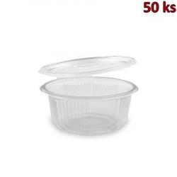 Plastová miska s víčkem osmiboká 750 ml PP [50 ks]