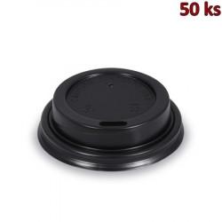 Víčko vypouklé černé pro papírové kelímky Ø 62 mm [50 ks]