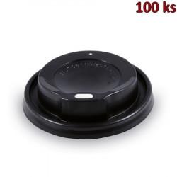 Víčko vypouklé černé pro papírové kelímky Ø 80 mm [100 ks]