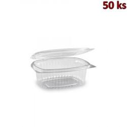 Plastová krabička s víčkem oválná 375 ml PET [50 ks]