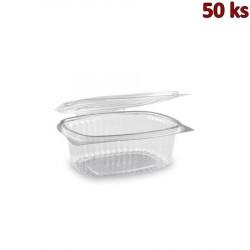 Plastová krabička s víčkem oválná 500 ml PET [50 ks]