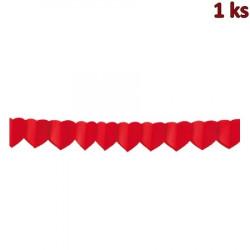 Papírová girlanda SRDCE 4 m (Ø 18 cm) [1 ks]