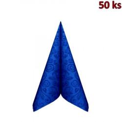 """Ubrousky PREMIUM 40x40cm """"dekor R"""" tmavě modré"""