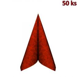"Ubrousky PREMIUM 40x40cm ""dekor R"" terakota"