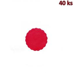 Rozetky PREMIUM Ø 9 cm červené [40 ks]