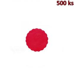Rozetky PREMIUM Ø 9 cm červené [500 ks]