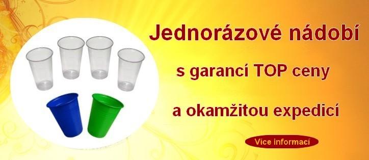 Jednorázové nádobí za TOP ceny